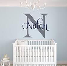 Custom Name Monogram Wall Decal Nursery Wall Decals Name Wall Decor