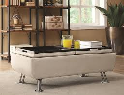 Furniture Storage Ottoman With Tray
