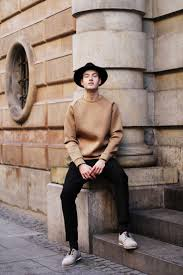 how to wear a tan crew neck sweater 89 looks men u0027s fashion