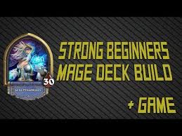 hearthstone beginner basic mage deck build and game youtube
