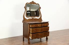 Ebay Dresser With Mirror by Victorian Carved Oak Antique 1900 Bedroom Set Full Size Bed