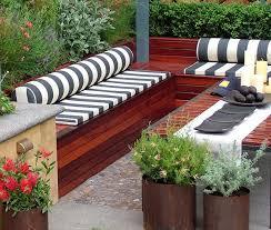 Outstanding Orange Metal Garden Bench Cushion Lazy Susan