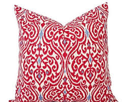 15 off sale two ikat throw pillow covers red and brown ikat