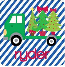 Christmas 18 Wheeler - Green Truck: ASimpleStitch