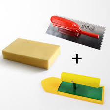 notched margin trowel tiling adhesive grout smooth sponge for