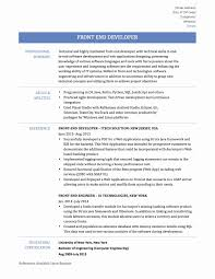 Ideas Collection Software Engineer Resume Examples Unique Front End Developer With