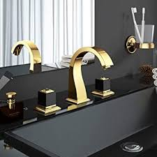 symzl waschbecken wasserhähne waschbecken wasserhahn messing gold 3 löcher doppelgriff luxus bad waschbecken badewanne wasserhähne