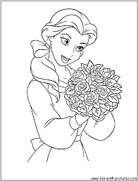 Princess Belle Coloring Pages Color Archives Best Page Gallery Ideas