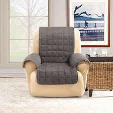 Gray Sofa Slipcover Walmart by Sure Fit Ultimate Waterproof Quilted Pet Recliner Cover Walmart Com