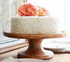 Vintage Wood Carved Cake Stand