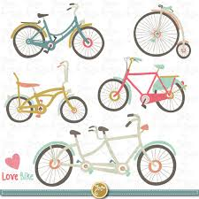 Hand Drawn Vintage Bike Clipart CLIP ART PackVintage