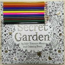 Secret Garden Coloring Book Painting Drawing For Children Adult Relieve Stress Relax An Inky Treasure
