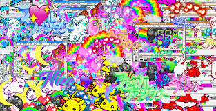 Assorted Text And Character Illustrations LSD Pikachu Unicorns Rainbows HD Wallpaper