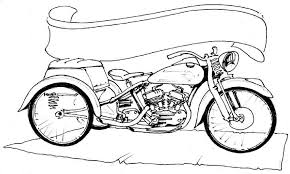 Custom Motorcycle Coloring Page