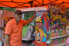 Canby Businessman Fulfills Dream With Snow Cone Truck | News, Sports ... Snow Cone Express Opens In Big Creek Crossing Kona Ice Of Friscoallen Food Trucks In Frisco Tx Truck Selling Cream Stock Photos Snoco Tuscaloosa Roaming Hunger Local Man Uses Shaved Ice Truck To Help Raise Money For Ul Lafayette Allentown Area Getting Its Own 85 Ft Despicable Me Minions In Snow Cone Truck Airblown Lighted Shaved 12ft Apex Specialty Vehicles Mobile Cafe St Louis Foodtruckrentalcom Canby Businessman Fulfills Dream With Snow Cone News Sports Wikipedia