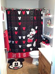 wonderful bathroom mickey mouse and shower curtains in clubhouse
