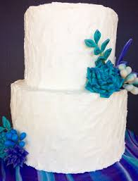 Rustic Buttercream Wedding Cake With Handmade Fondant Succulents Colors Were Peacock Purple Teal Blue