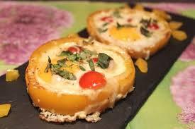 cuisiner les poivrons œuf en cocotte de poivron pour ceux qui aiment cuisiner