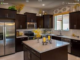 Dark Cabinets With Light Granitewayyy To Much Stuff Everywhere Styling Needs