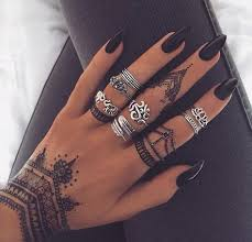 Black Henna Temporary Tattoos Ideas MyBodiArt