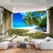 details zu vlies fototapete strand palmen natur landschaft tapete wandbilder wohnzimmer