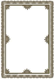 Elegant Sample Certificate Border Designs New Simple For A4 Paper Clipart Best Free