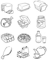 Healthy Food Coloring Pages Cartoonrocks Intended For