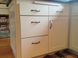kitchen drawer pull placement knob placement on trash pull out