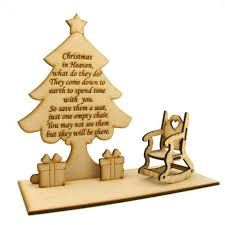 Christmas In Heaven' Quote On A Christmas Tree With Rocking ...
