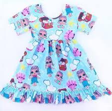Girls Lol Surprise Dolls Inspired Milk Silk Twirl Dress Baby Mermaids 12M 7