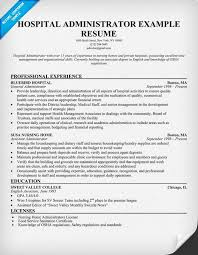 Hospital Administrator Resume Resumecompanion Medical