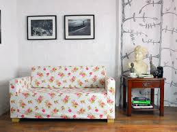 Klippan Sofa Cover Singapore by Ikea Ullvi Sofa Bed Slip Cover In White Rose Garden Fabric