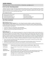 Resume Samples For Service Desk And Help Manager The Letter Sample With Regard To