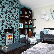 festive teal plus silver living space scheme teal and silver