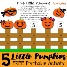 Books About Pumpkins For Toddlers by Five Little Pumpkins Printable Activity Totschooling Toddler