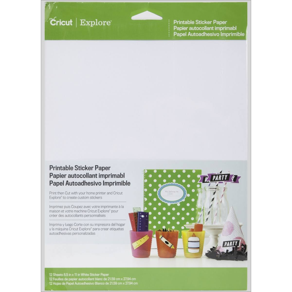 "Darice Cricut Sticker Paper - 8.5"" X 12"""