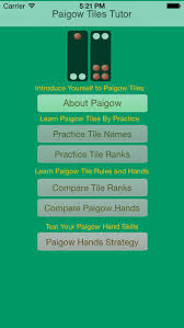 Pai Gow Tiles Set by Pai Gow Tutor On The App Store