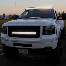 Led Light Bar On Sierra HD White | Trucks | Pinterest | Led Light Bars