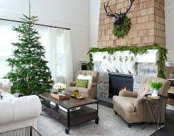 Simple Greenery Above The Fireplace On Side Table And Console Was All Needed To Dress Up Space For Holidays