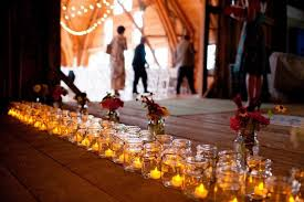 Mason Jar Wedding Decor Rustic Barn