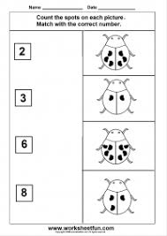 Count The Spots On Each Picture 8 Worksheets