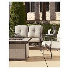 Patio Furniture Conversation Sets With Fire Pit by Serene Ridge 5 Piece Aluminum Outdoor Patio Furniture Conversation