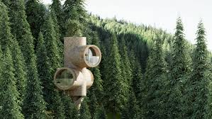 100 Tree House Studio Wood Bert Modular Treehouse Is Inspired By Minions Cartoon Characters