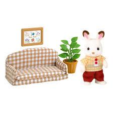 papa kaninchen chocolat und wohnzimmer sylvanian spiele und