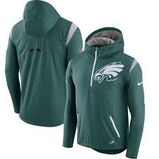 men u0027s philadelphia eagles nike green sideline fly rush half zip