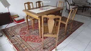scrapeo esszimmer tisch und 6 stühle 1930