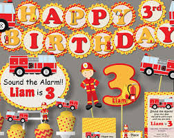 Fire Truck Birthday Party Decoration
