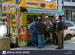 Canada, Ontario, Toronto. People Buying Lunch At A Concession Truck ...