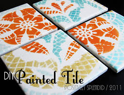 diy painted ceramic tile tutorial positively splendid crafts