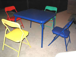 childrens folding table and chairs chairst com